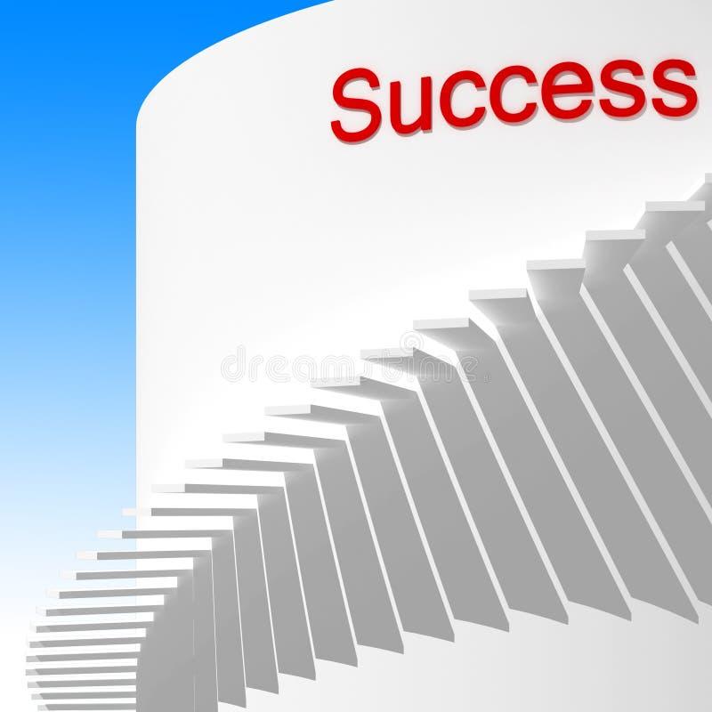 Manier aan succes royalty-vrije stock afbeelding