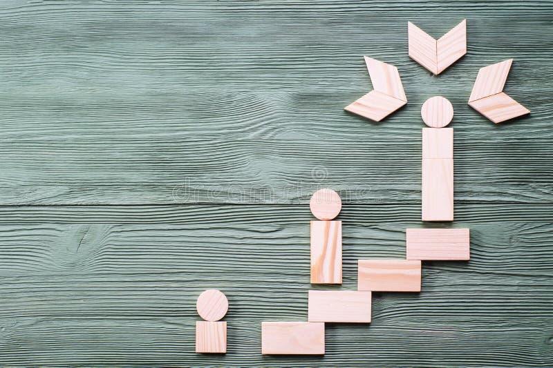 Manier aan succes Het concept de carrièregroei stock afbeeldingen