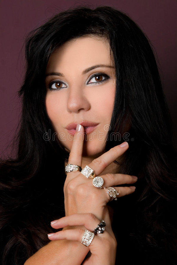 Manier - de Diamanten zijn de beste vriend van een meisje royalty-vrije stock foto