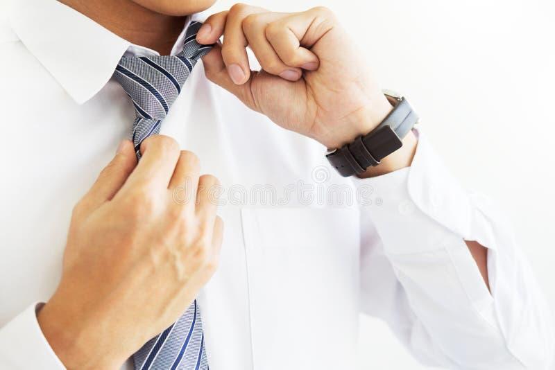 manier en kledingsconcept - sluit omhoog van de bedrijfsmens in overhemd stock afbeeldingen