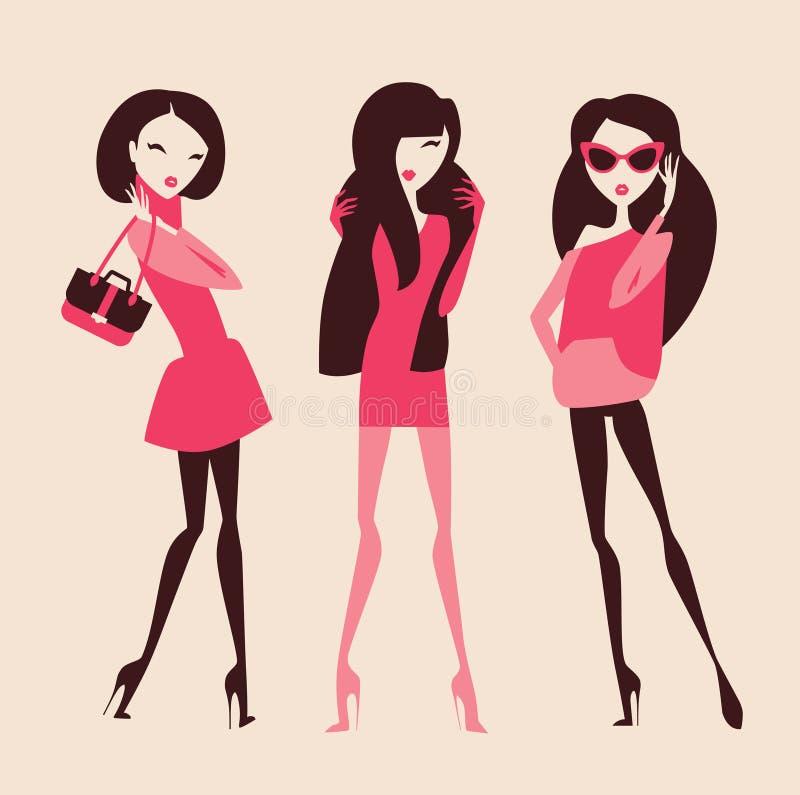 manier meisjes vector illustratie