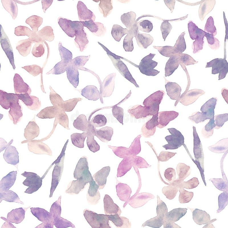 Manier purpere bloemenachtergrond vector illustratie