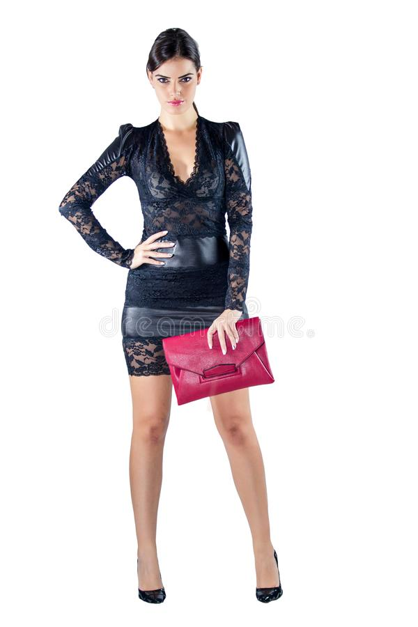 Maniervrouw in kleding stock afbeelding
