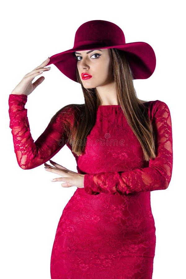 Maniervrouw in kleding stock foto