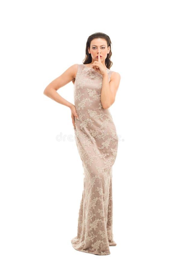 Maniervrouw in moderne kleding royalty-vrije stock afbeeldingen