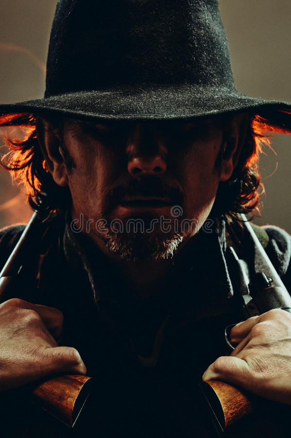 Manieur de pistolet occidental sauvage photo stock