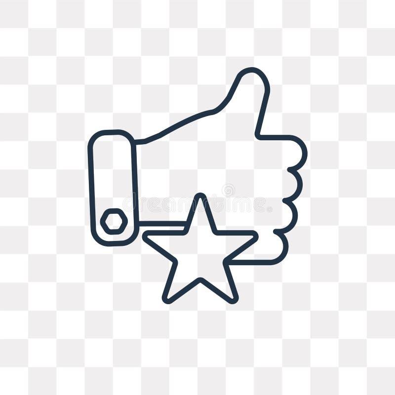 Maniez maladroitement avec l'icône de vecteur d'étoile d'isolement sur le backgroun transparent illustration de vecteur