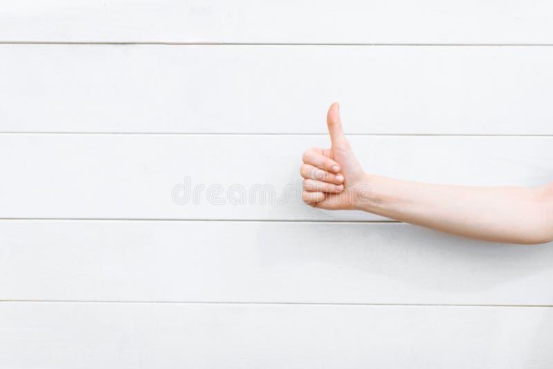 Maniez maladroitement vers le haut du plan rapproché sur le fond en bois blanc, l'espace d'isolement pour photos libres de droits