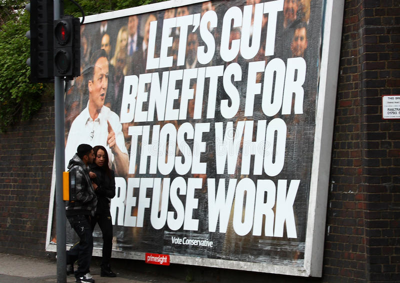 Manifest David-Cameron, England lizenzfreie stockbilder