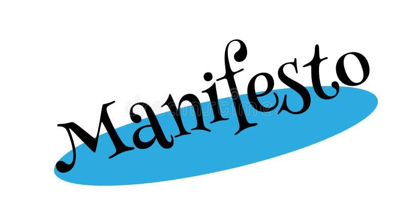 Manifest rubberzegel stock illustratie