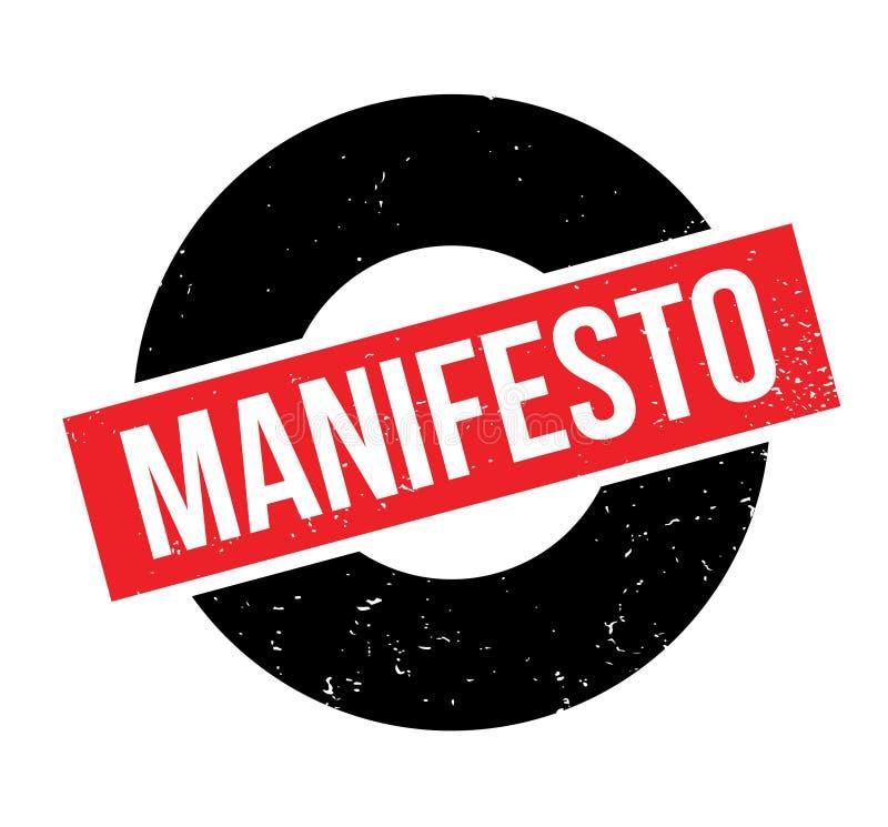 Manifest rubberzegel royalty-vrije illustratie