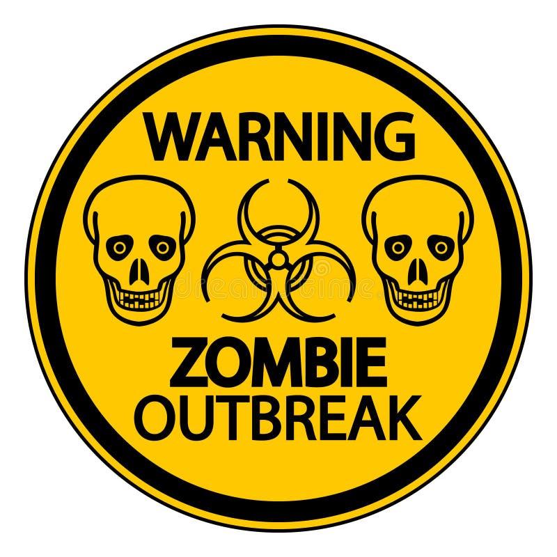 Manifestação de advertência do zombi ilustração do vetor