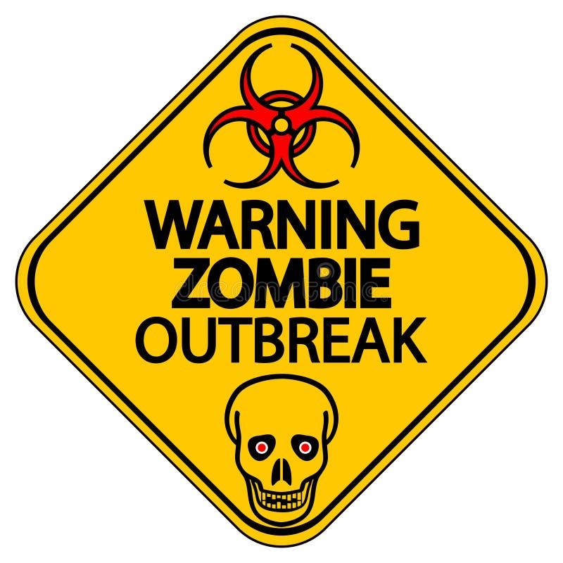 Manifestação de advertência do zombi ilustração royalty free