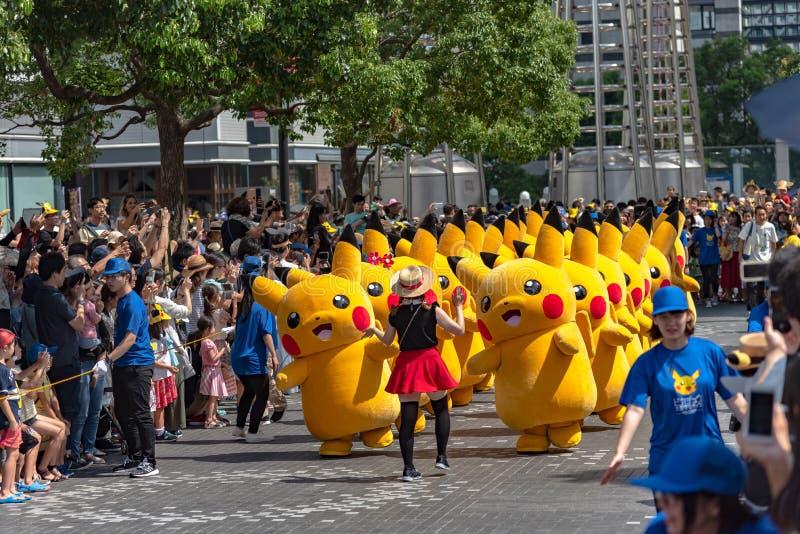Manifestação de Pikachu! 2018 sobre 1.500 Pikachus a aparecer & desfilar em Yokohama fotos de stock