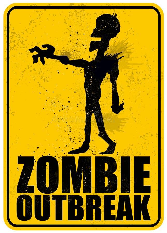 Manifestação do zombi ilustração royalty free