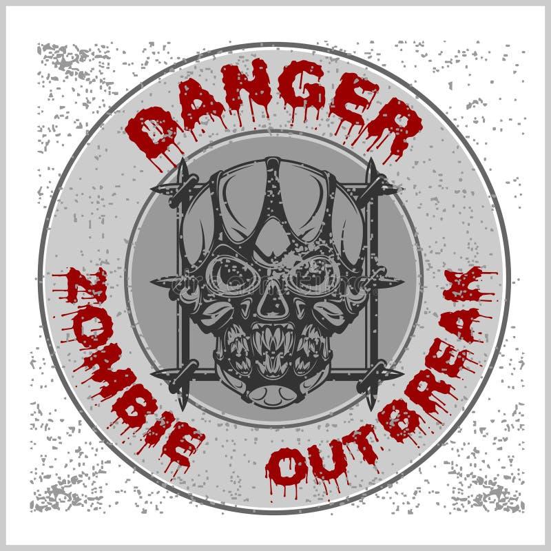 Manifestação do zombi do cartaz ilustração do vetor