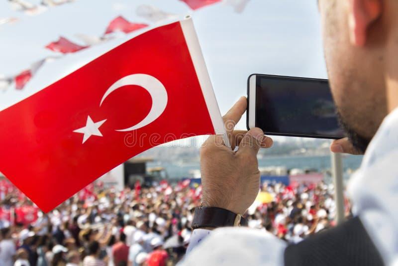 Manifestações em massa do ` s de Turquia fotografia de stock