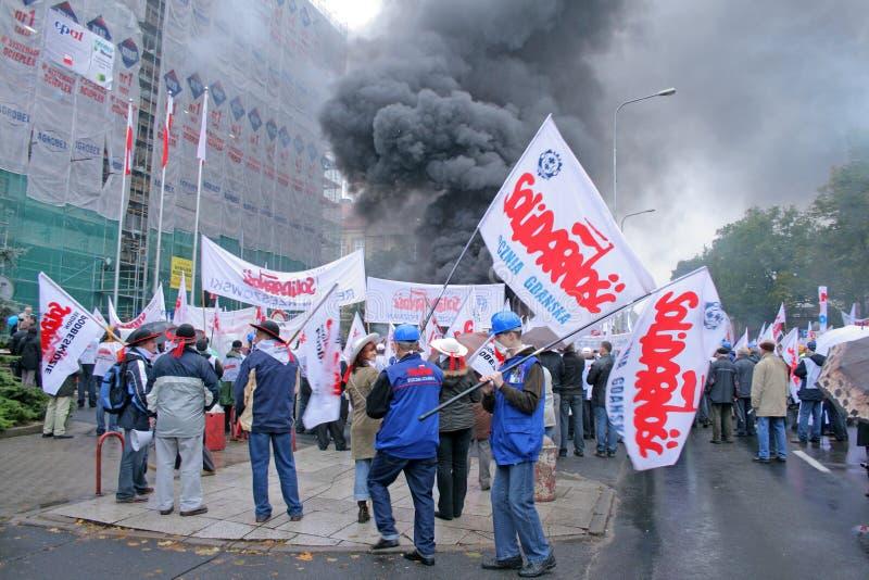 Manifestación de los trabajadores fotografía de archivo libre de regalías