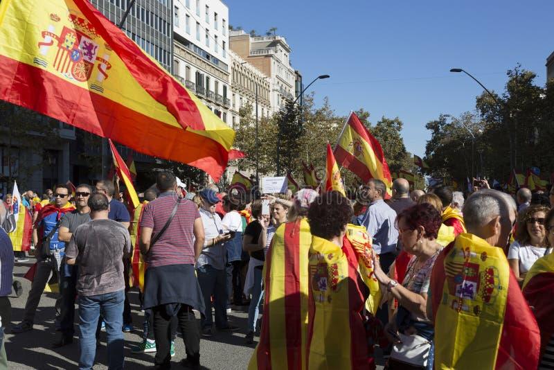 Manifestacja jednostką Hiszpania zdjęcie royalty free