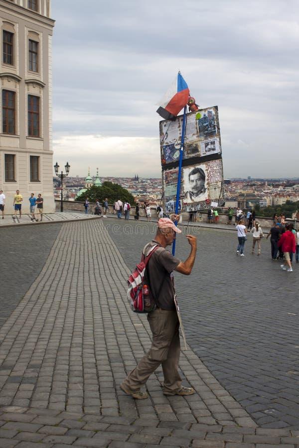 manifestante fotografía de archivo