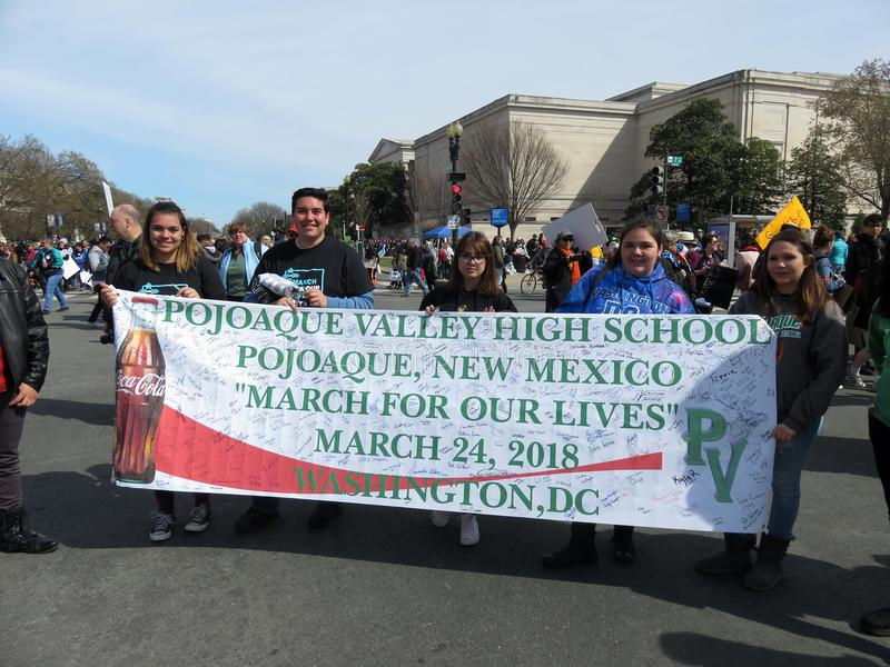 Manifestantes de New México foto de archivo libre de regalías
