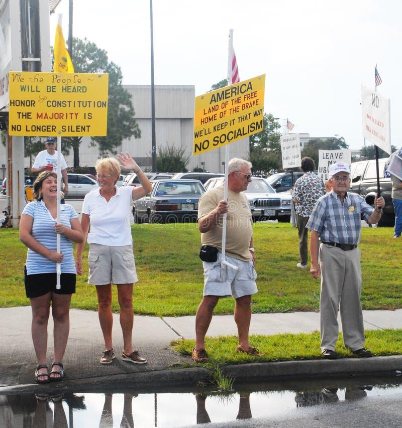 Manifestantes del partido de té foto de archivo libre de regalías