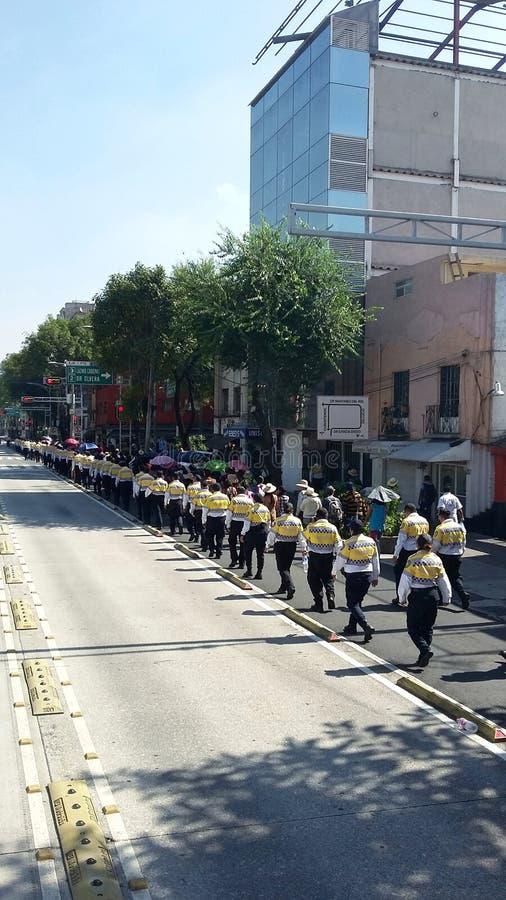 Manifestantes en Ciudad de México, México foto de archivo libre de regalías