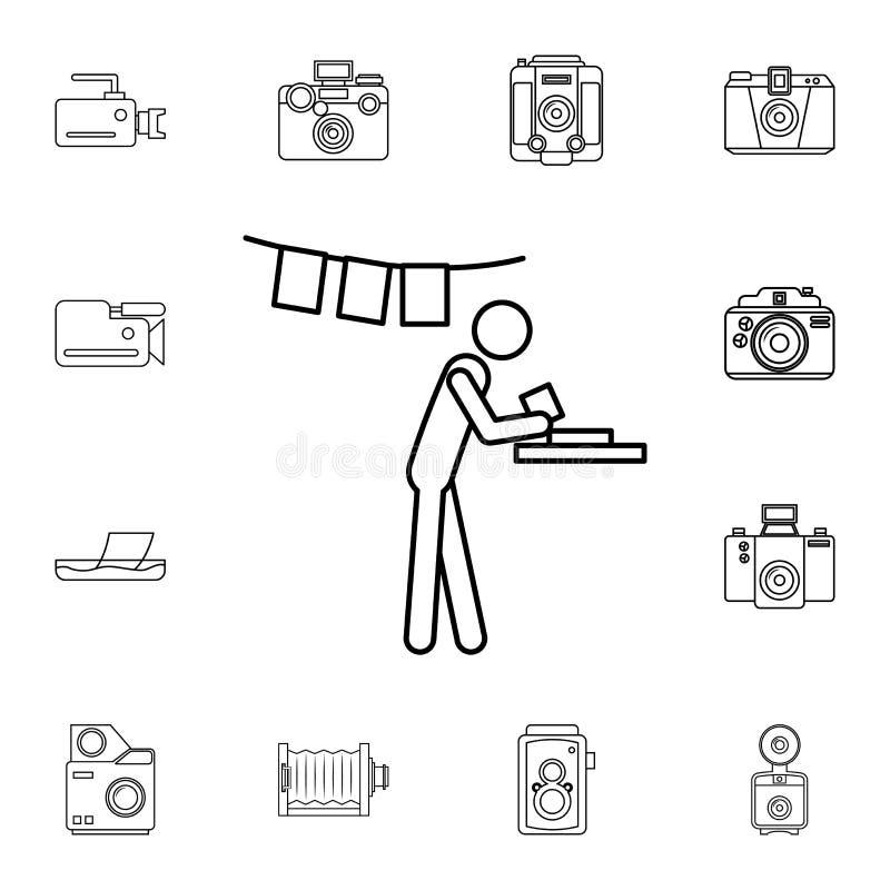 manifestatie van foto'spictogram Gedetailleerde reeks pictogrammen van de fotocamera Grafisch het ontwerppictogram van de premiek stock illustratie