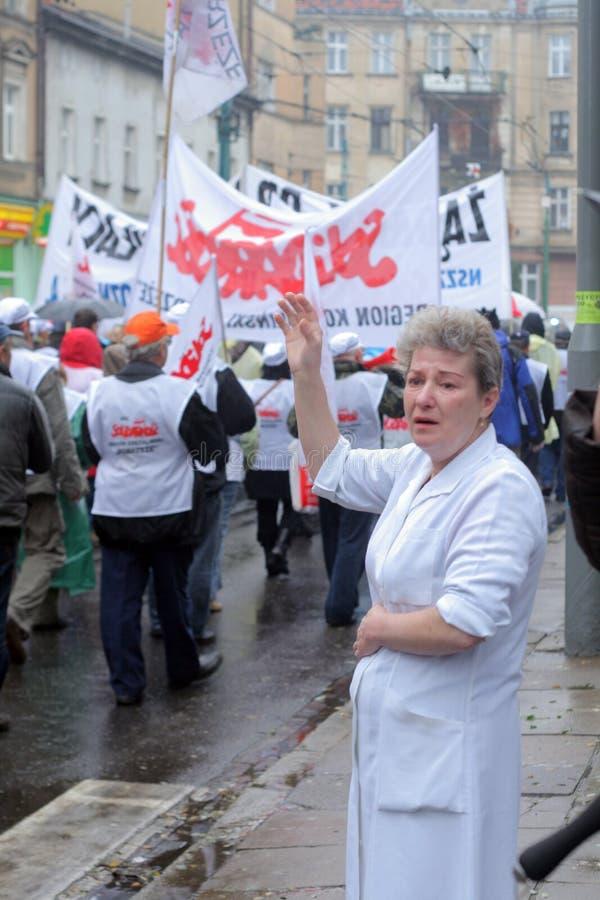 Manifestation d'ouvriers images libres de droits