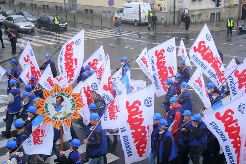 Manifestation d'ouvriers photographie stock libre de droits