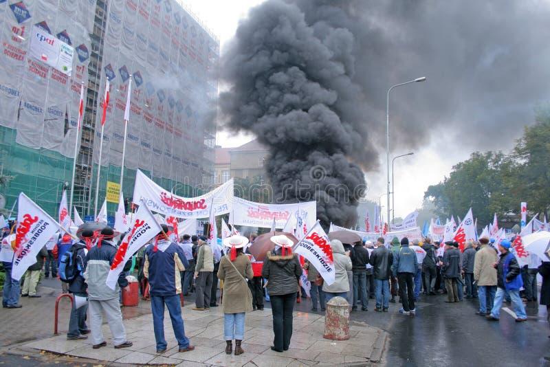 Manifestation d'ouvriers photos libres de droits