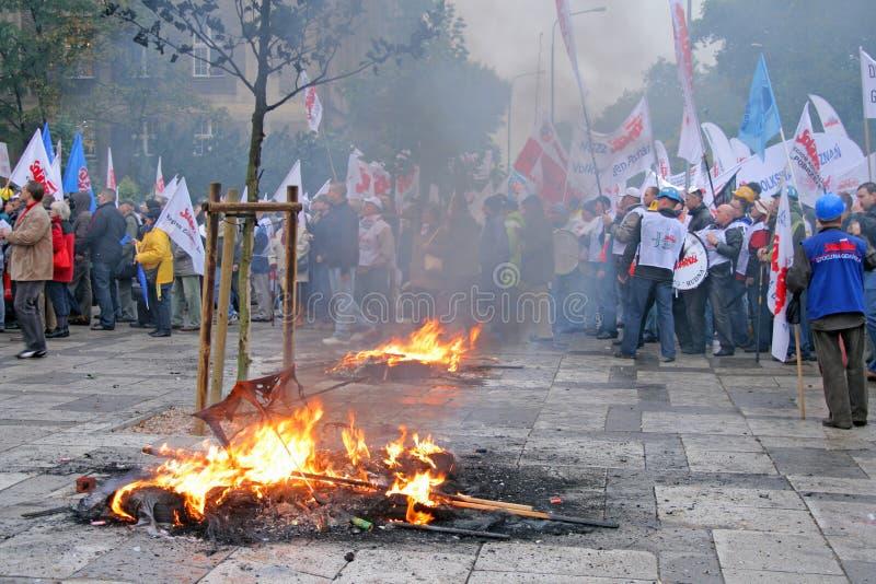 Manifestation d'ouvriers image libre de droits