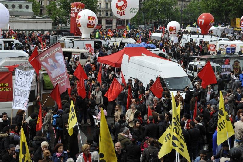 Manifestation de mayday, Paris images libres de droits