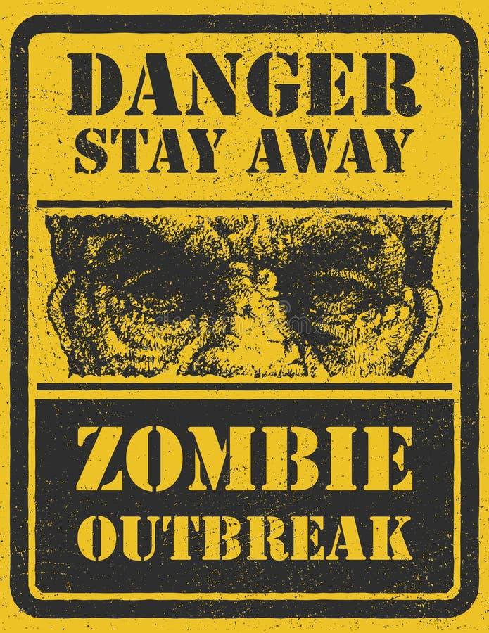 Manifestation de zombi. Tiré par la main. Vecteur Eps8 illustration libre de droits