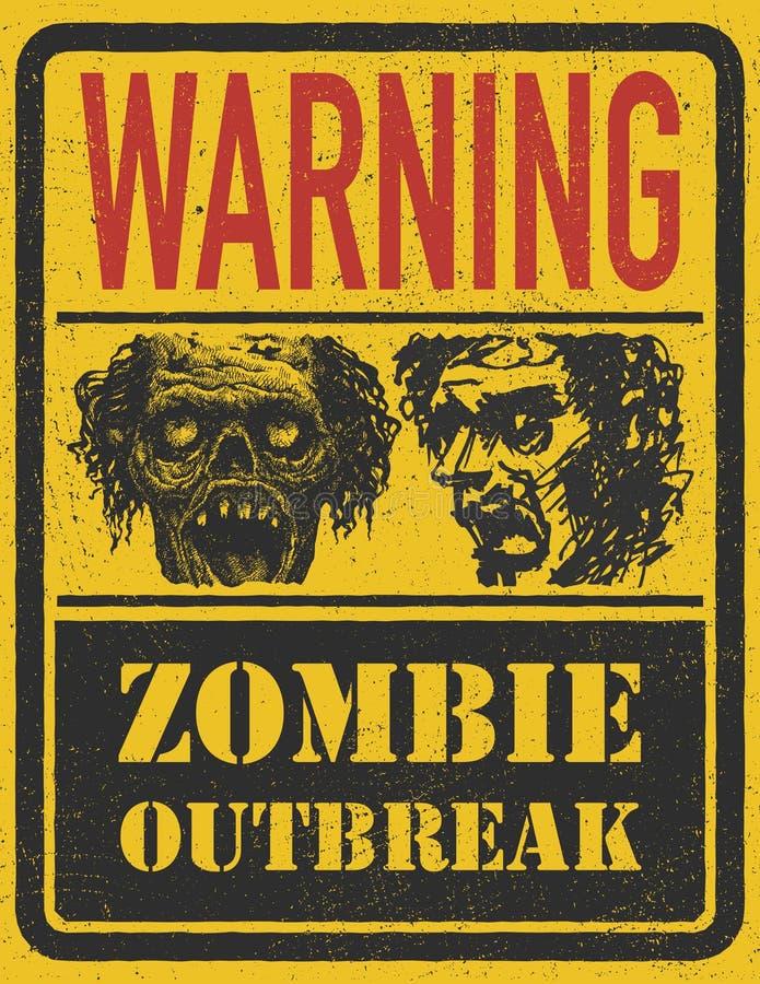 Manifestation de zombi. Tiré par la main. Vecteur Eps8 illustration stock