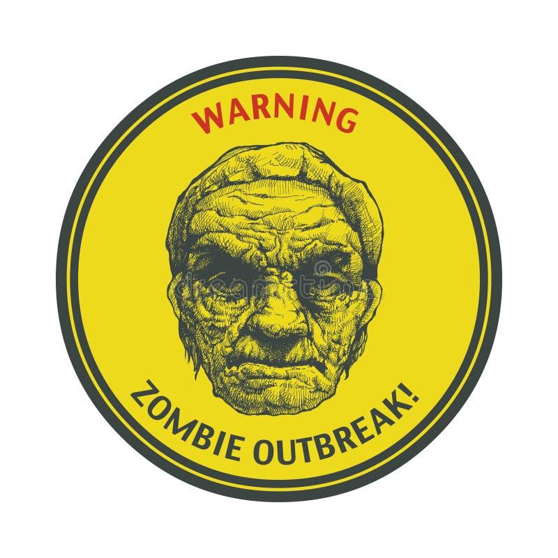 Manifestation de zombi. Tiré par la main. Vecteur Eps8 illustration de vecteur
