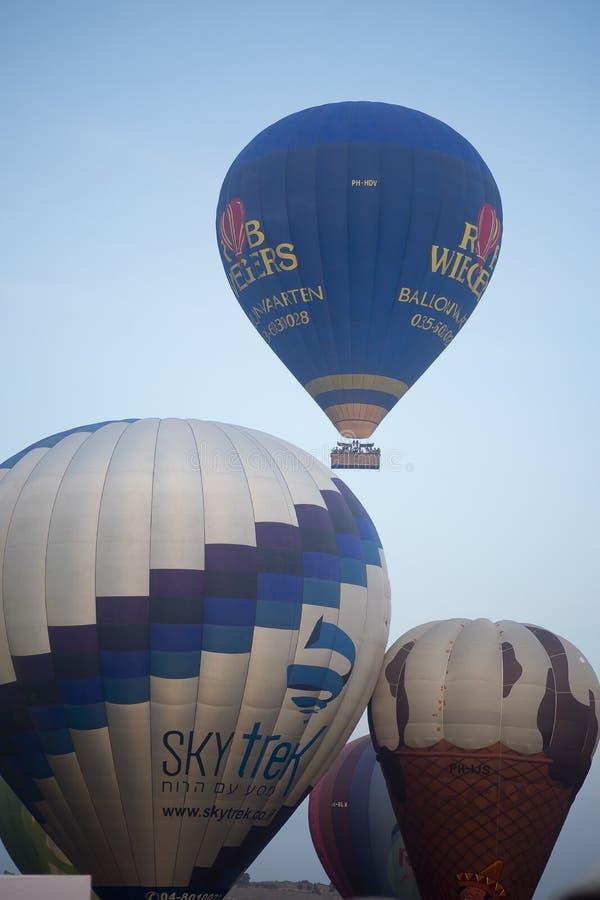 Manifestazione della mongolfiera in primavera di Harod fotografie stock