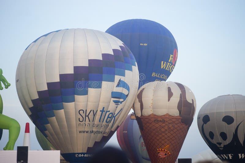 Manifestazione della mongolfiera in primavera di Harod fotografia stock libera da diritti