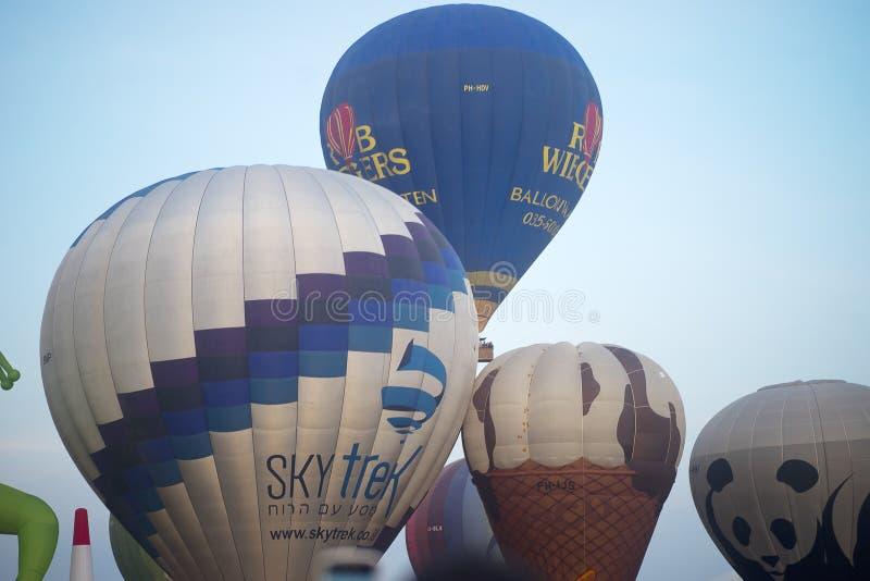 Manifestazione della mongolfiera in primavera di Harod immagine stock