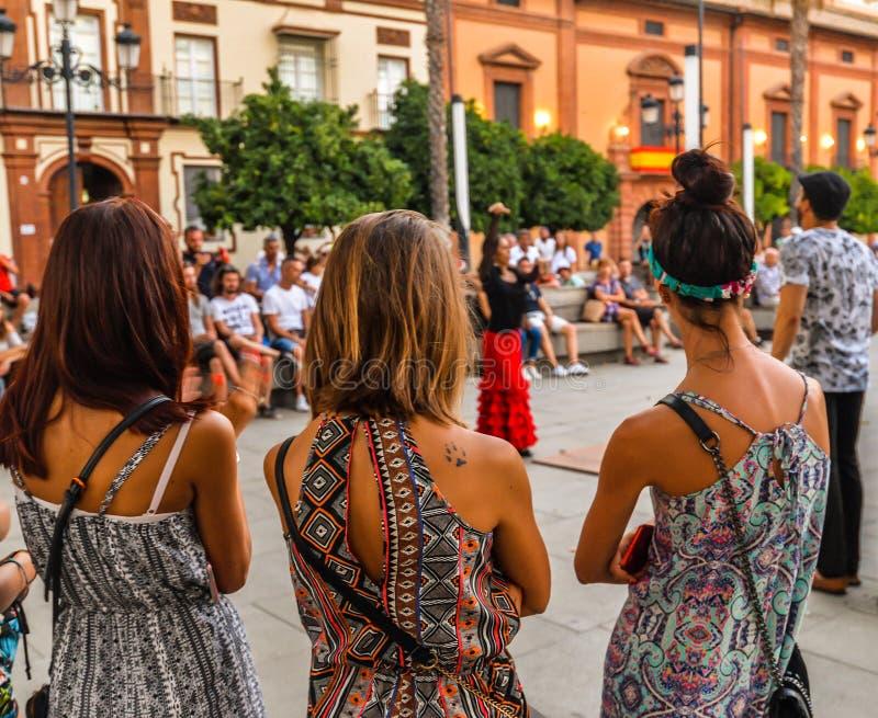 Manifestazione di flamenco - Siviglia - Spagna fotografie stock libere da diritti