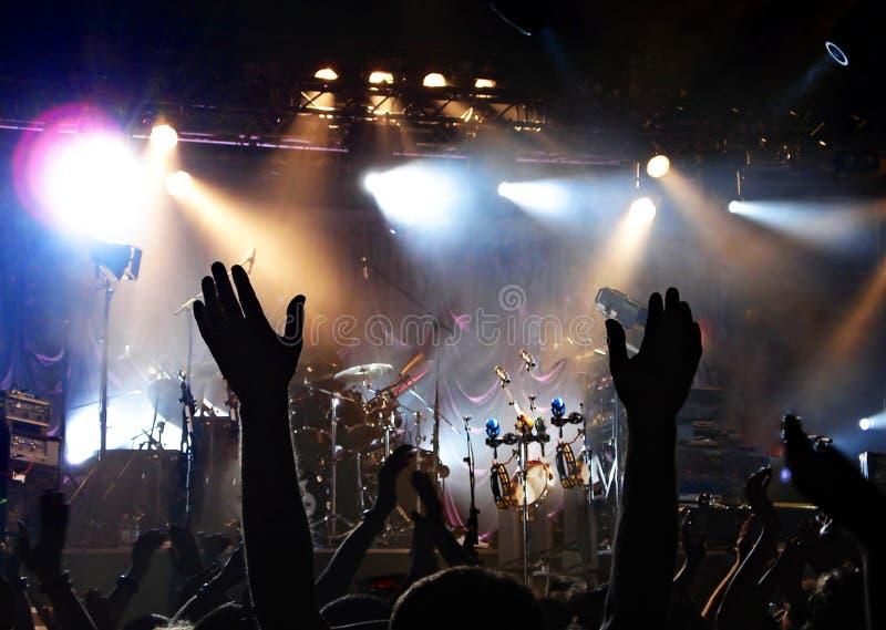 Manifestazione di musica in diretta stasera immagini stock