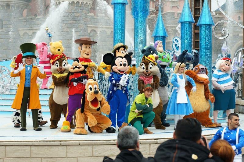 Manifestazione a Disneyland Paris fotografie stock libere da diritti
