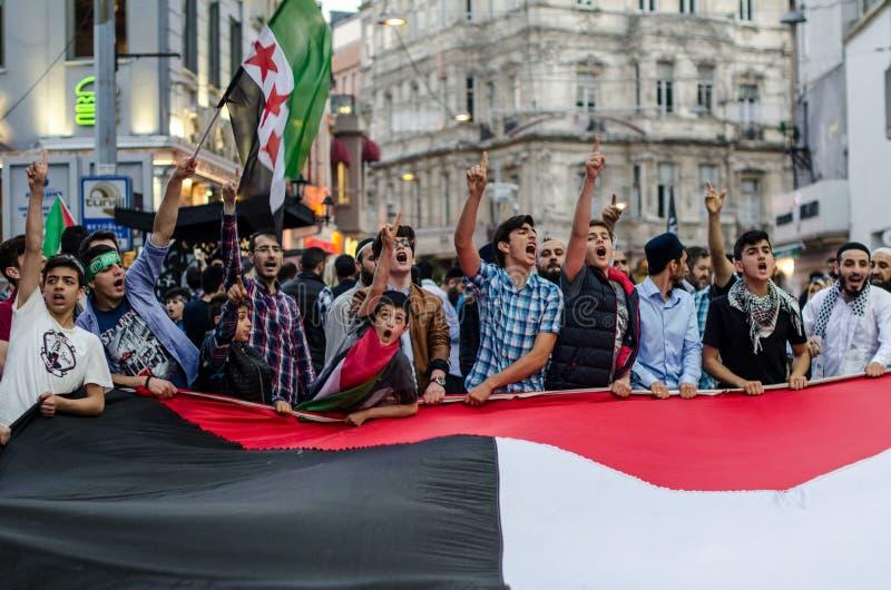 Manifestazione III di Mavi Marmara immagine stock libera da diritti