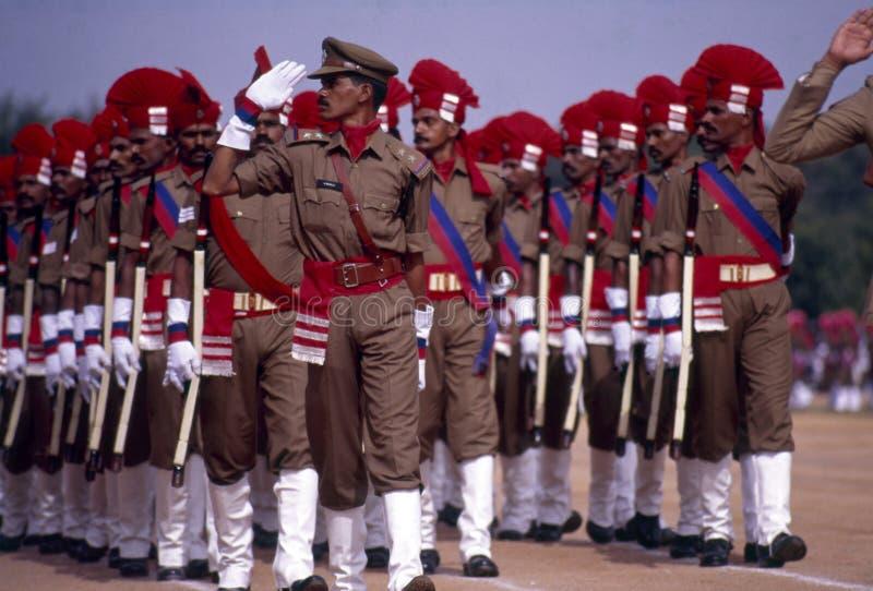 Manifestazione per il Giorno dell'Indipendenza della Polizia di Telangana in India fotografie stock