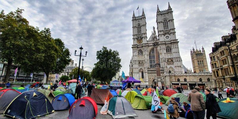 Manifestazione per la ribellione dell'estinzione a Londra fotografia stock libera da diritti