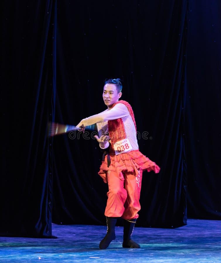 Manifestazione piega di Ballo-graduazione della scimmia 1-Chinese di Tripmaster del ballo Departmen immagine stock