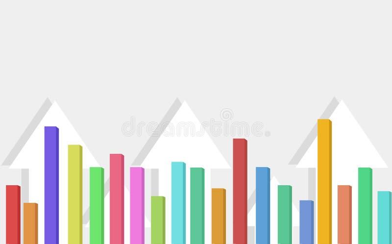 Manifestazioni del fondo delle frecce che indicano su o crescita illustrazione di stock