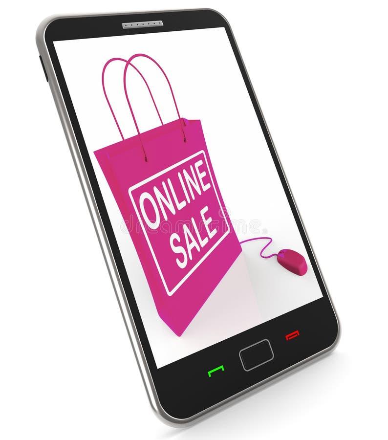 Manifestazioni online della borsa di vendita che vendono e che comprano su Internet royalty illustrazione gratis