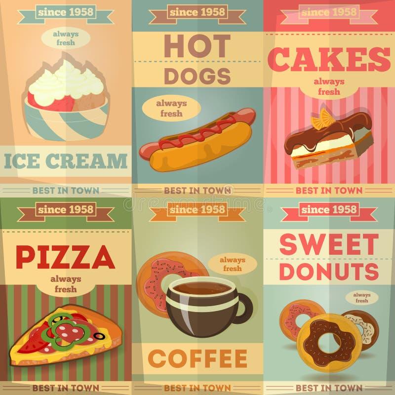 Manifesti dell'alimento royalty illustrazione gratis