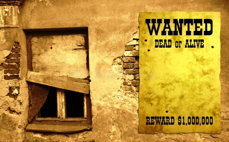 Manifesto ad ovest selvaggio IV fotografie stock libere da diritti